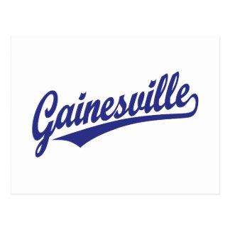 青のGainesvilleの原稿のロゴ ポストカード