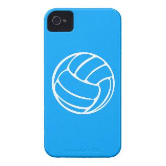 青のiPhone 4のバレーボールの白 Case-Mate iPhone 4 ケース