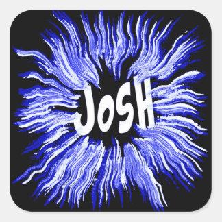 青のJoshの一流の星 スクエアシール