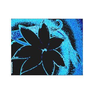 青のLilly キャンバスプリント