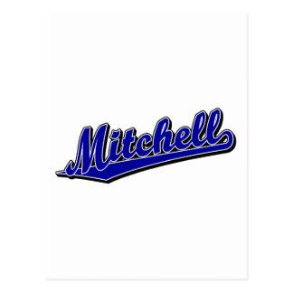 青のMitchell ポストカード