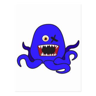 青のOctoモンスター ポストカード