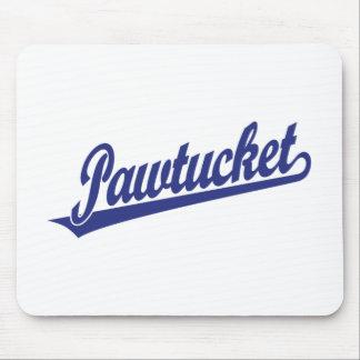 青のPawtucketの原稿のロゴ マウスパッド