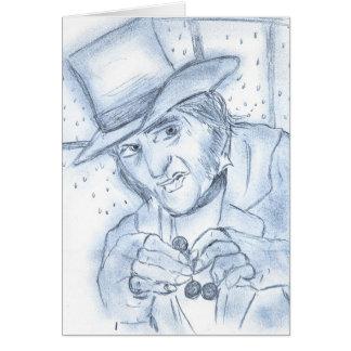 青のScrooge グリーティングカード