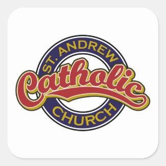 青のSt Andrewのカトリック教会の赤 スクエアシール