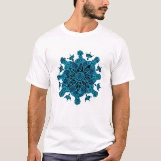青はす曼荼羅 Tシャツ