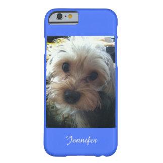 青はまたはあなたの色のかわいいヨークシャーテリアを選びます BARELY THERE iPhone 6 ケース
