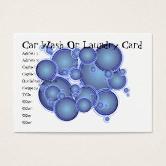 青はカーウォッシュか洗濯カード泡立ちます 名刺