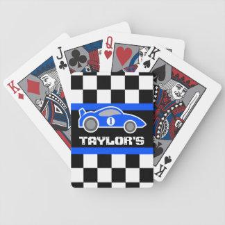 青はカードを遊ぶ自動車の名前の年齢を遊ばします バイスクルトランプ