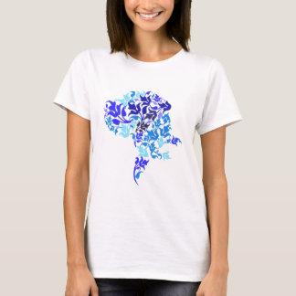 青はグレートデーン葉が出ます Tシャツ