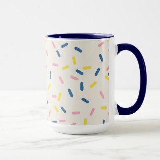 青はコーヒー・マグを振りかけます マグカップ