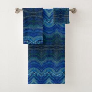 青はタオルセットを振ります バスタオルセット