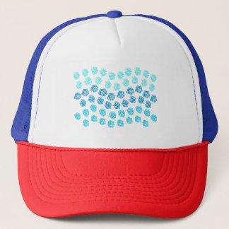 青はトラック運転手の帽子を振ります キャップ