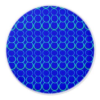 青はノブ引出しの泡立ちます セラミックノブ