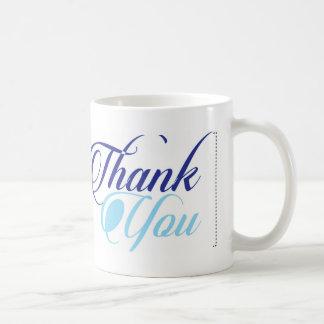 青は原稿のタイポグラフィ感謝していしています コーヒーマグカップ
