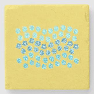 青は大理石の石造りのコースターを振ります ストーンコースター