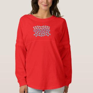 青は女性の精神のジャージーのTシャツを振ります スピリットジャージー