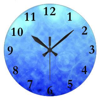 青は柱時計を曇らせます ラージ壁時計