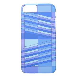 青は波状の長方形を着色します iPhone 8/7ケース
