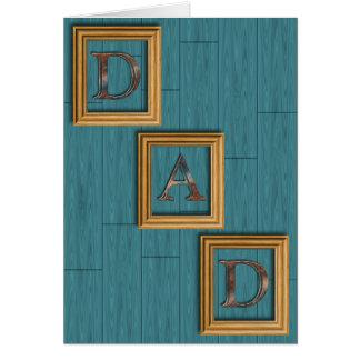 青は父の日の挨拶状に乗ります カード