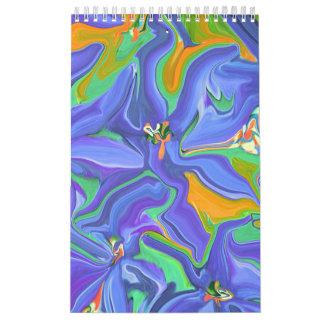 青は私のお気に入りのな色の抽象美術のカレンダーです カレンダー
