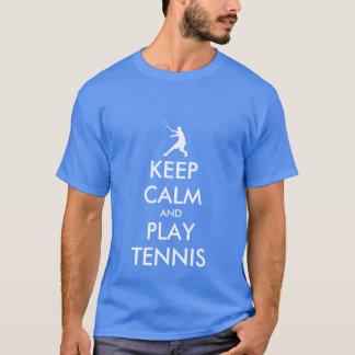 青は穏やかなおよび演劇のテニスのTシャツ保ちます Tシャツ