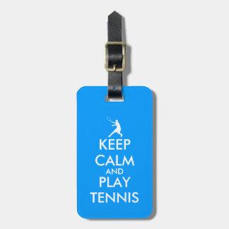 青は穏やかなおよび演劇のテニス旅行荷物のラベル保ちます ラゲッジタグ