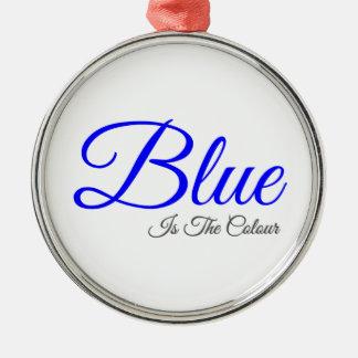 青は色です メタルオーナメント