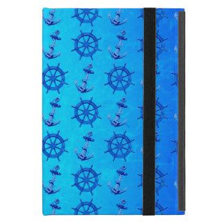 青は車輪およびいかりを出荷します iPad MINI ケース