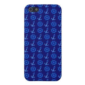 青は車輪およびいかりを出荷します iPhone 5 CASE