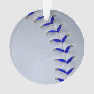 青は野球/ソフトボールをステッチします オーナメント
