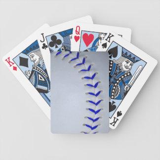 青は野球/ソフトボールをステッチします バイスクルトランプ