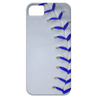 青は野球/ソフトボールをステッチします iPhone SE/5/5s ケース