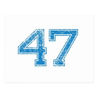 青はJerzee第47を遊ばします ポストカード