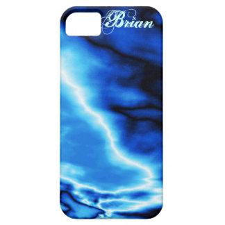 青はNの稲妻のiPhone 5の箱を曇らせます iPhone SE/5/5s ケース