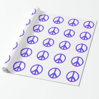 青または紫色の抽象的なピースマーク ラッピングペーパー