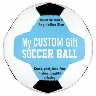 青を個人化する習慣によって印刷されるサッカーボール サッカーボール