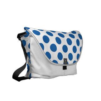 青を眩ます水玉模様 メッセンジャーバッグ