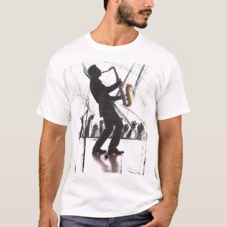 青を遊ぶサクソフォーン Tシャツ
