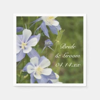 青オダマキ(植物)によっては結婚式が開花します スタンダードカクテルナプキン
