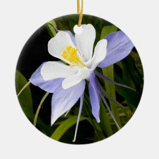 青オダマキ(植物) セラミックオーナメント
