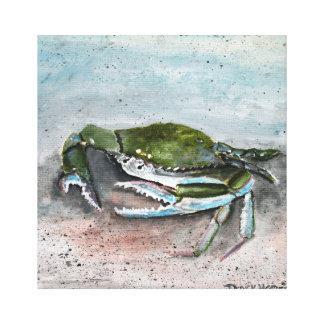 青カニのビーチの正方形のアクリルのキャンバスのプリント キャンバスプリント