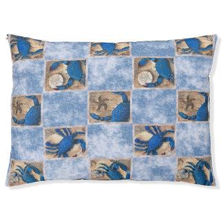 青カニカスタムな犬のベッド ラージドッグベッド