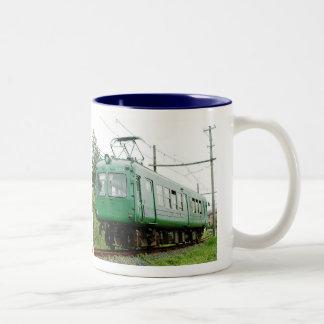 青ガエル、デハ5100形、日本の電車 ツートーンマグカップ