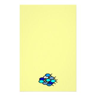 青キリスト教の魚の記号の学校- 便箋