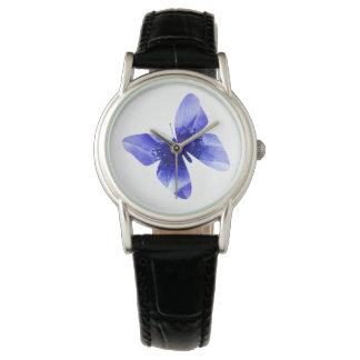 青ケシの蝶、女性 腕時計