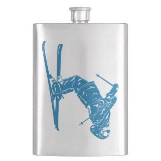 青スキーヤー フラスク