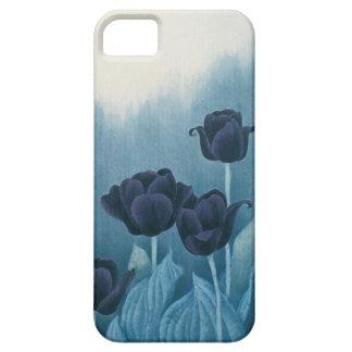 青チューリップ iPhone SE/5/5s ケース