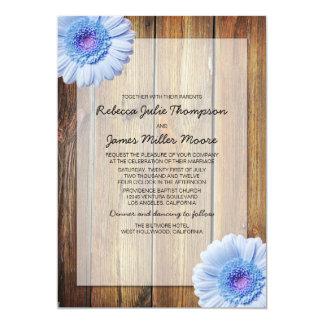 青デイジー-納屋木-結婚式招待状 カード
