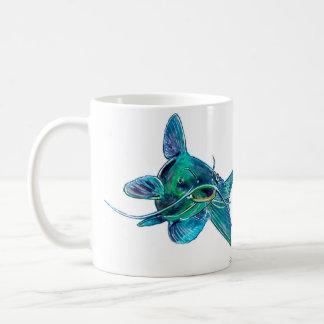 青ナマズのマグ コーヒーマグカップ